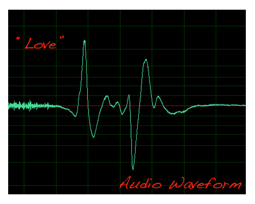 Love Audio wave form art