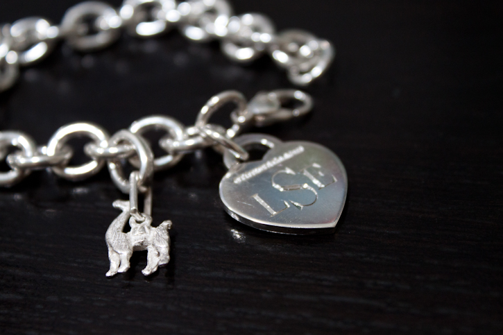 tiffany charm bracelet with added charm