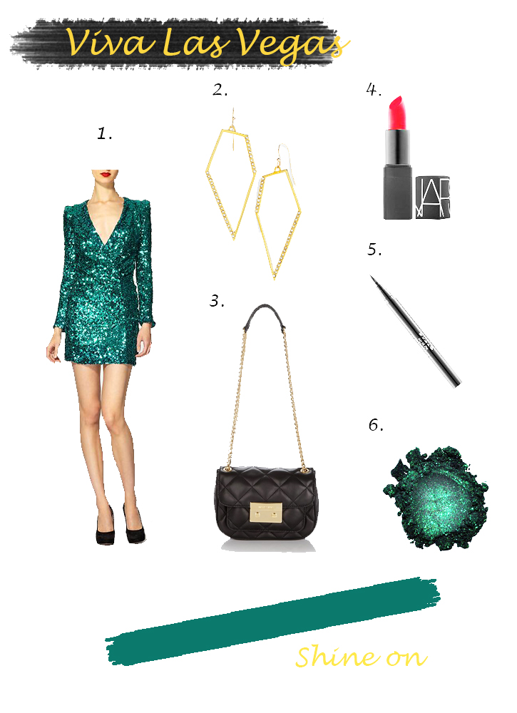 green sequin vegas outfit
