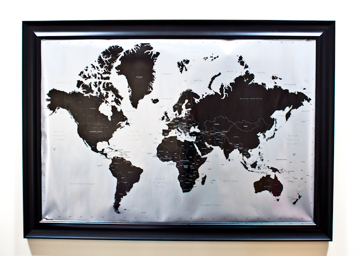 cork board map DIY