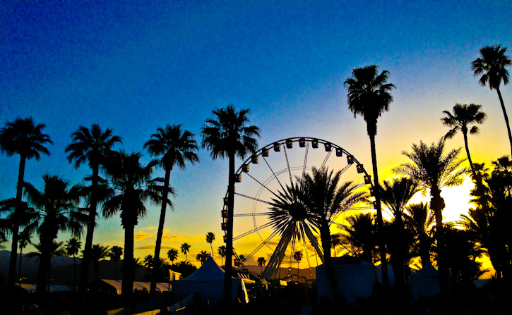 Coachella sunset ferris wheel