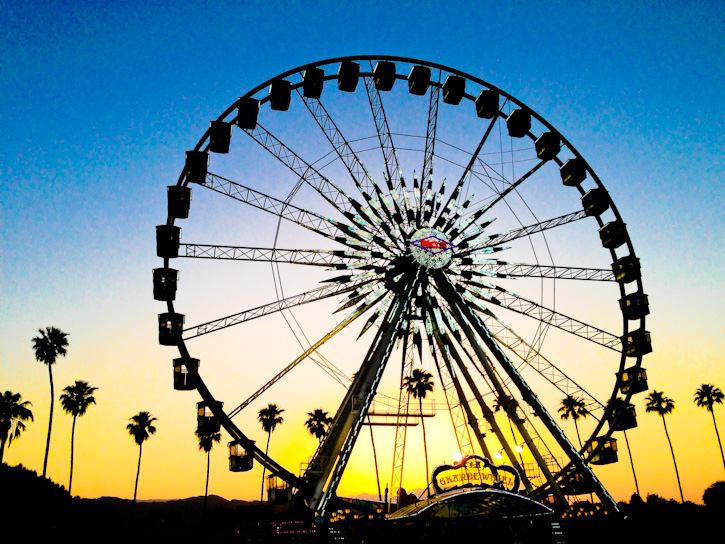 stagecoach 2013 ferris wheel sunset