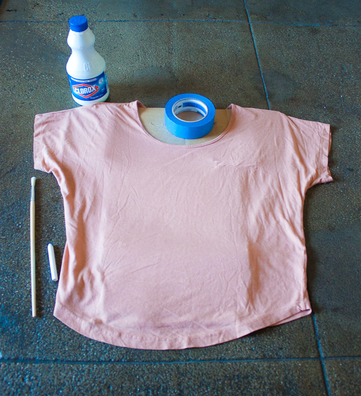 bleach shirt DIY
