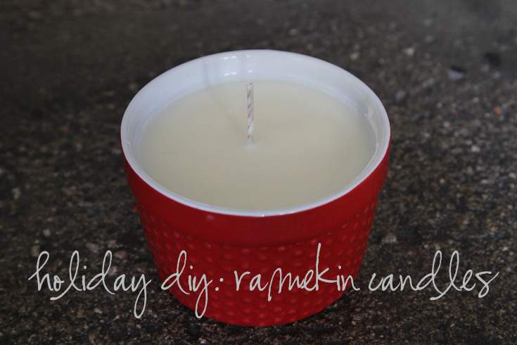 Project 23/52: holiday ramekin candles!