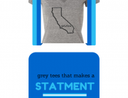 a grey tee that makes a