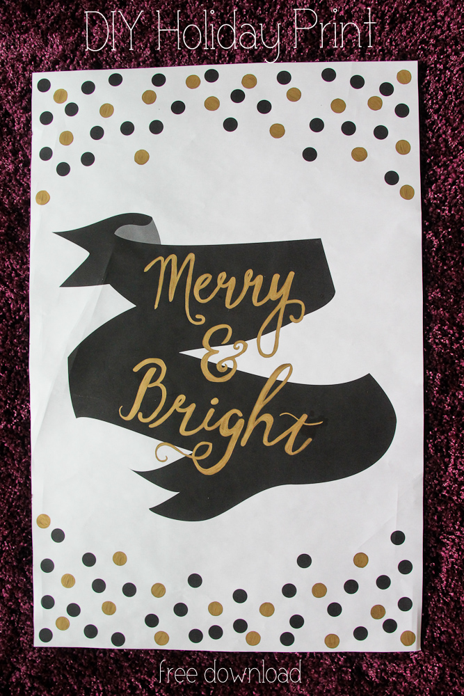 Merry and Bright: Free Download Holiday Print!