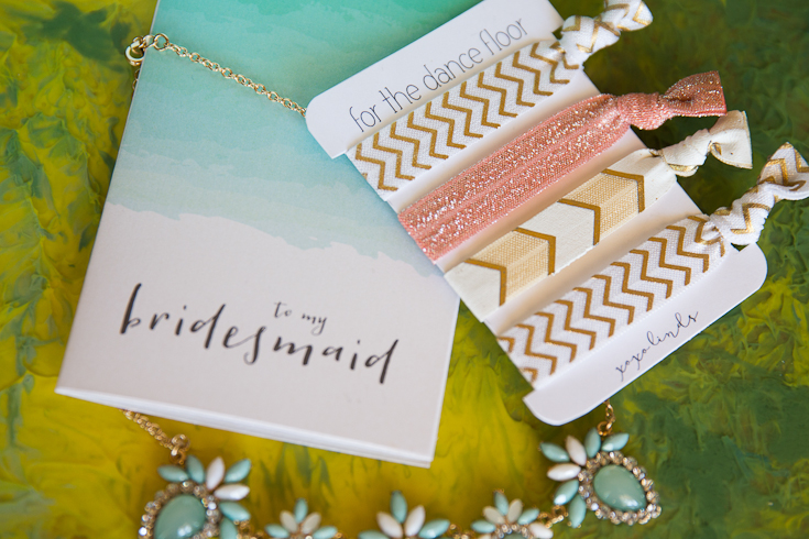 DIY bridesmaid hair elastics