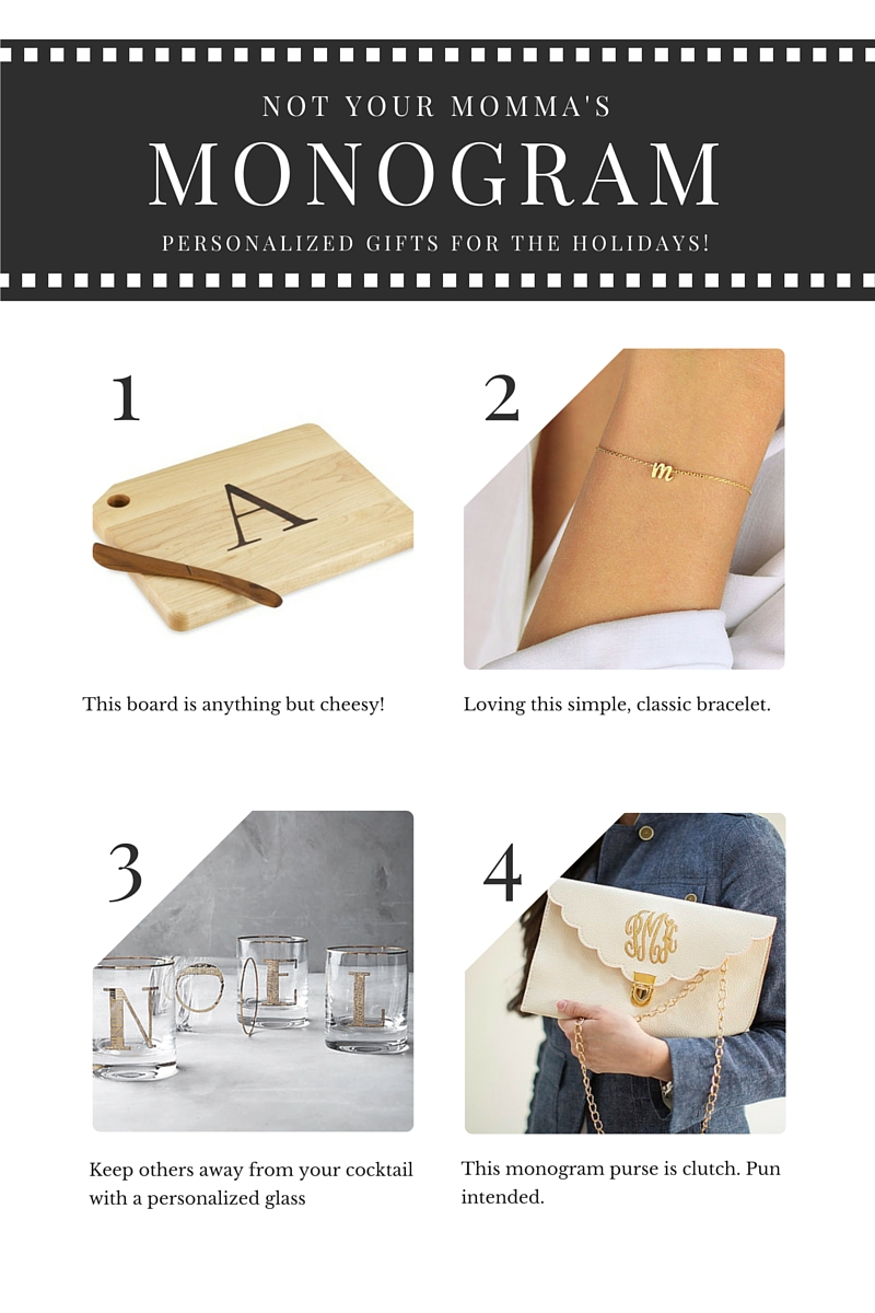 Monogram gift ideas